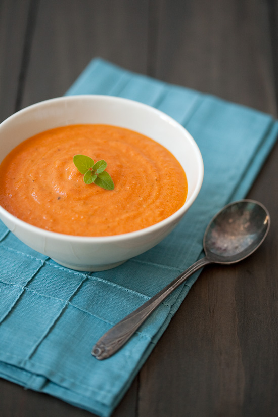 Fresh Tomato Soup with Mascarpone