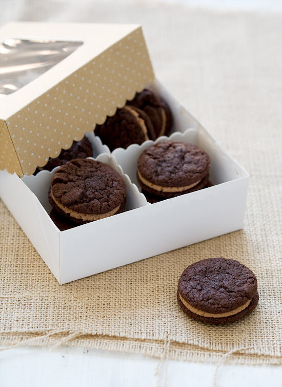 Chocolate Sandwich Cookies with Malted Milk Chocolate Buttercream
