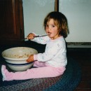 Baby Lindsay with Cookie Dough