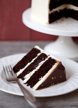Blackberry Red Wine Chocolate Cake