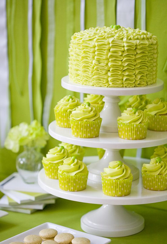 Green Olive Oil-Themed Dessert Table