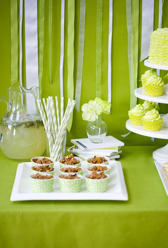 Green Olive Oil-Themed Dessert Table