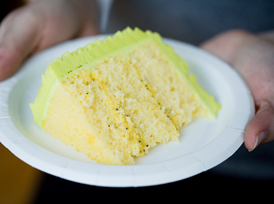 Meyer Lemon and Olive Oil Chiffon Cake with Lemon Poppyseed Curd