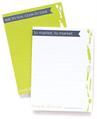 Love & Olive Oil Notepads