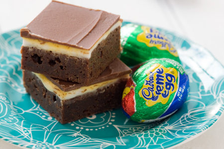 Cadbury Cream Egg Milk Chocolate Brownies