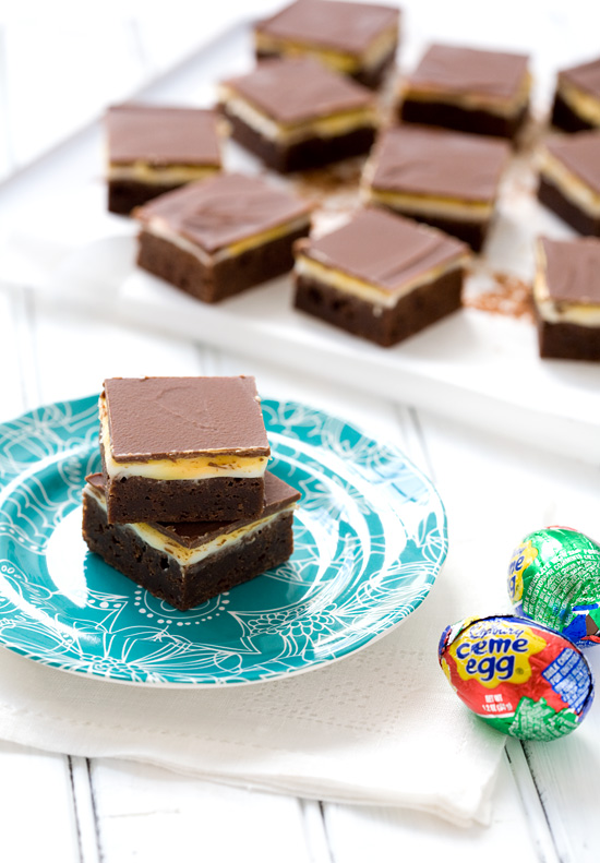 Cadbury Cream Egg Brownies