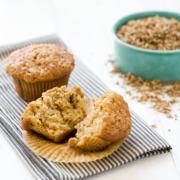 Spent Grain Applesauce Muffins