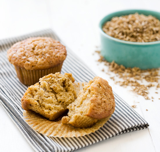 Spent Grain Applesauce Muffins