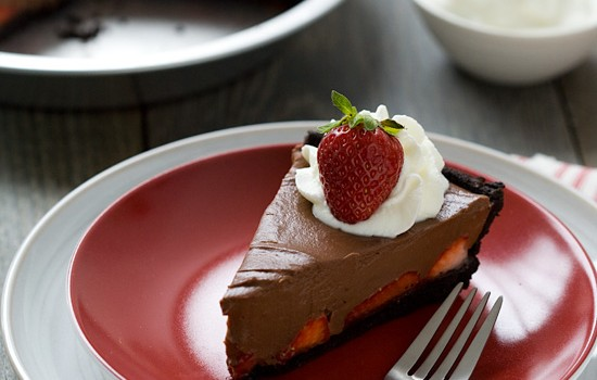 Chocolate Strawberry Oasis Pie