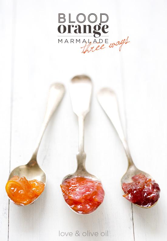 Blood Orange Marmalade, Three Ways