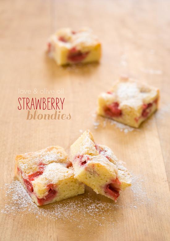 White Chocolate Strawberry Blondie Recipe