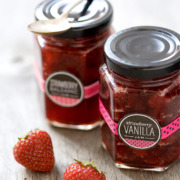 Strawberry Vanilla and Strawberry Balsamic Jam
