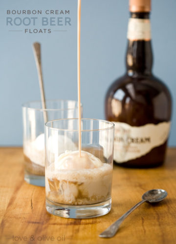 Bourbon Cream Root Beer Floats