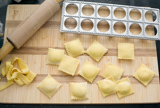 Homemade Corn Ravioli Pasta