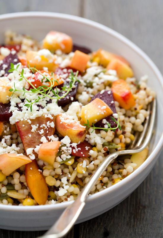 Peach and Roasted Vegetable Salad