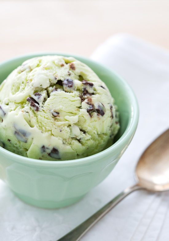 ... ice cream is speckled with Andes mint baking chips for a double dose