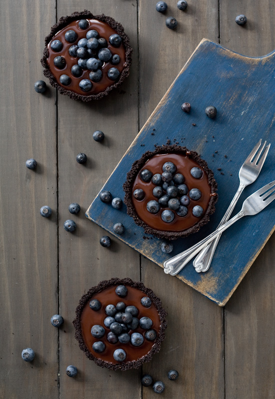 No-Bake Blueberry Truffle Tartlets