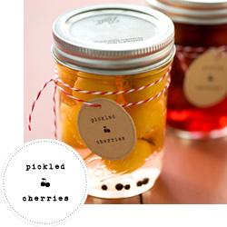 Pickled Cherries Printable Labels