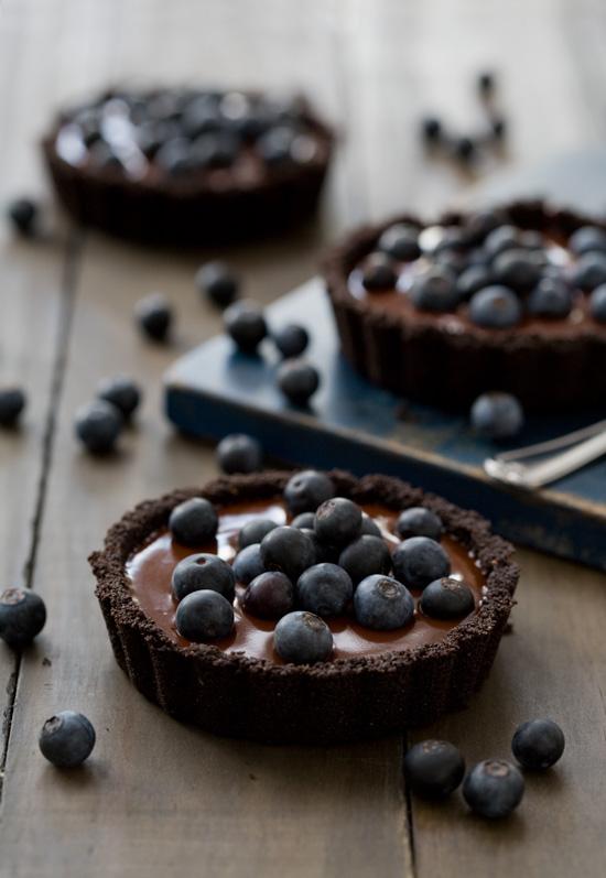 No-Bake Blueberry Truffle Tartlets