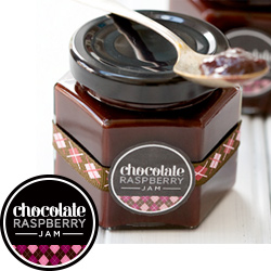 Chocolate Raspberry Jam Printable Labels