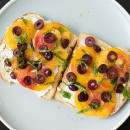 Open-Faced Heirloom Tomato Sandwiches