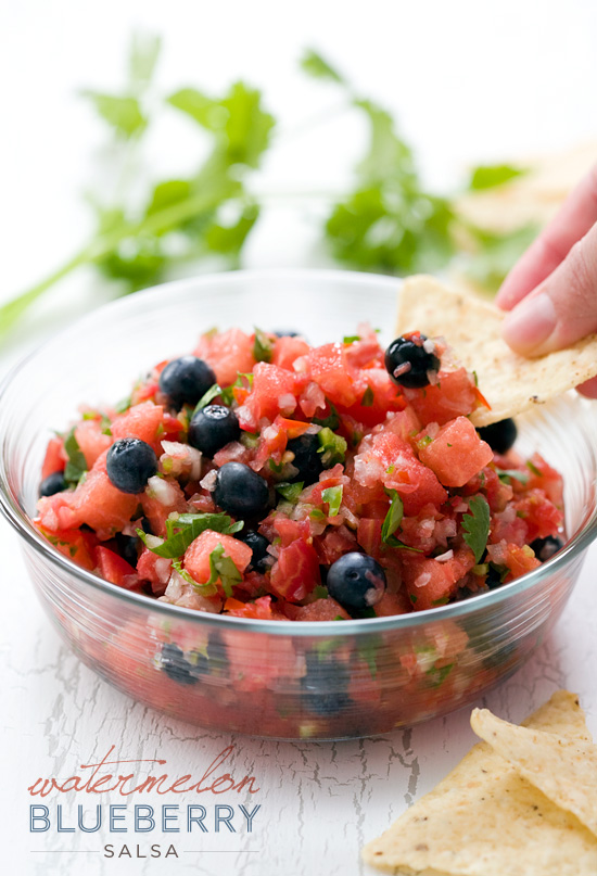Watermelon Blueberry Salsa | Love and Olive Oil