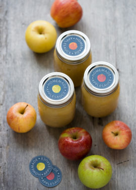 Homemade Applesauce Printable Labels