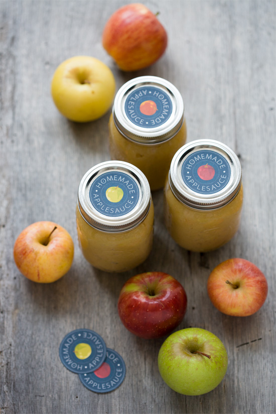 Homemade Applesauce Printable Labels
