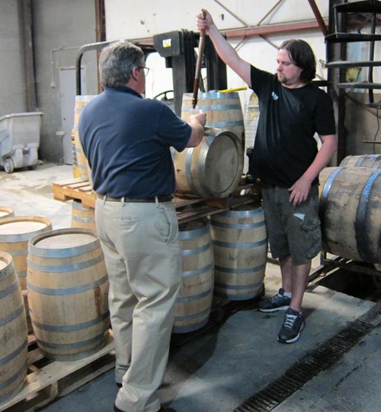 Collier and Mckeel barrel tasting