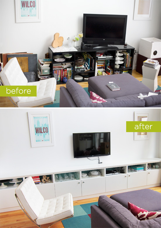 IKEA Besta Built-Ins: Before and After