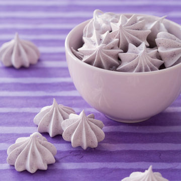 Blueberry Almond Meringues
