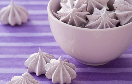 Blueberry Almond Meringues