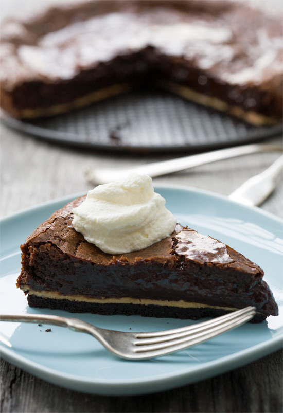 Chocolate Peanut Butter Chess Pie