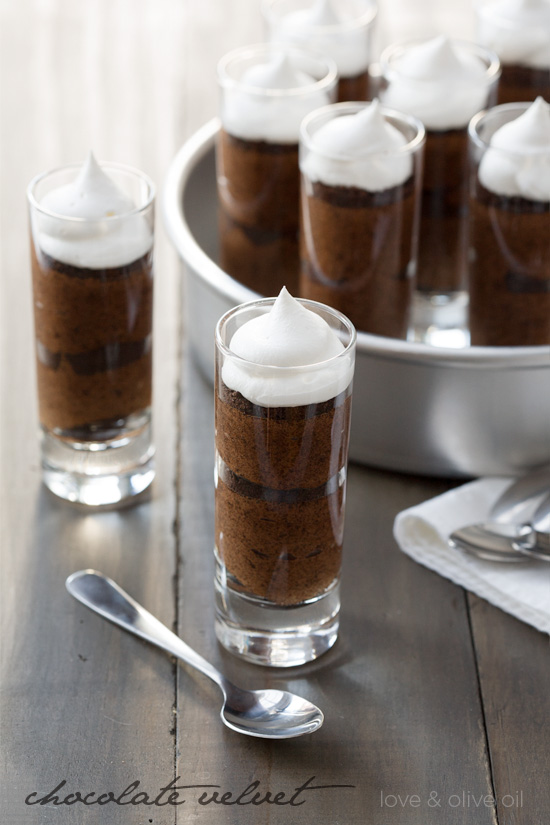 Chocolate Velvet Mousse Shooters