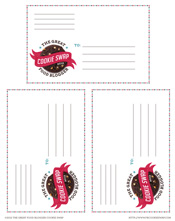 Cookie Swap Printable Mailing Labels Download