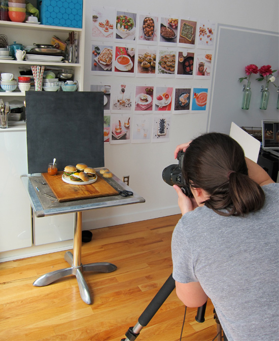 Photographing Burgers for the Cover