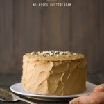Sweet Potato Cake with Molasses Buttercream