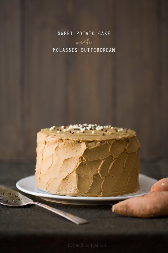 Sweet Potato Cake with Molasses Buttercream