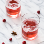 Holiday Cranberry Spritzer Cocktail