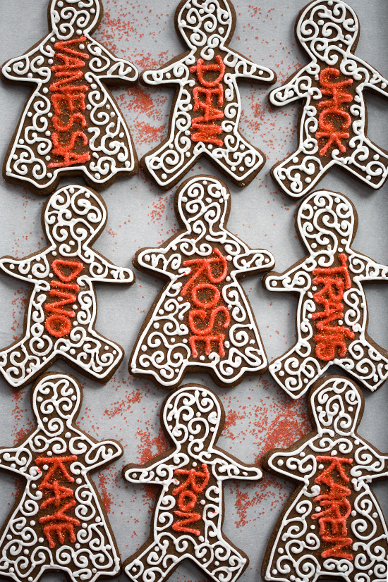 Holiday Decorated Gingerbread Cookies
