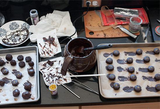 Dark Chocolate Banana Truffles