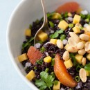 Black Rice Salad with Mango and Peanuts