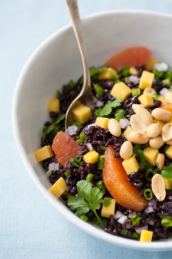Black Rice Salad with Mango and Peanuts | Love and Olive Oil