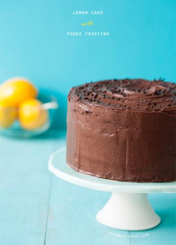 Lemon Layer Cake with Chocolate Fudge Frosting