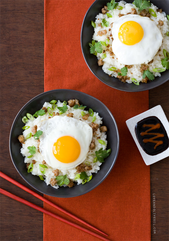 Asian-Style Loco Moco from Breakfast for Dinner