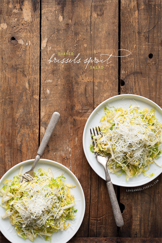 Shaved Brussels Sprout Salad | Love and Olive Oil