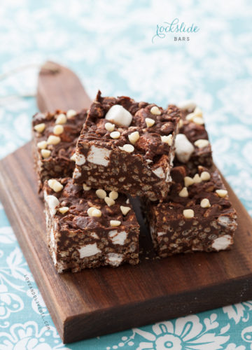 Chocolate Nutella Rockslide Bars