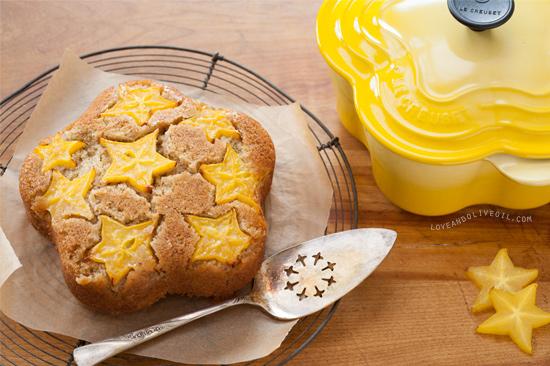 Starfruit Upside Down Cake Recipe for Le Creuset