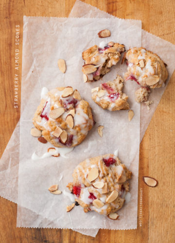 Strawberry Almond Scones