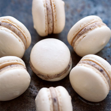 Almond Cookie Dough Macarons